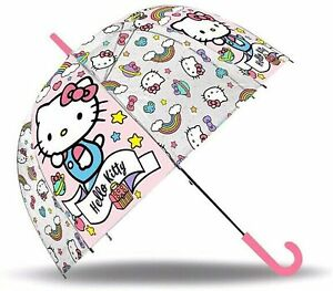 "Hello Kitty Bubble Umbrella Dome 18"" Sunshade Wipeable Fabric Unisex Kids Gift"