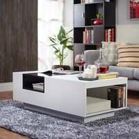 Furniture of America Zace Contemporary White Glass Top White N/A