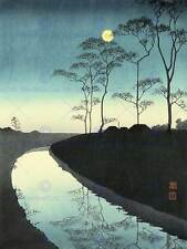 CULTURAL NATURE LANDSCAPE CANAL VILLAGE Koho JAPAN POSTER ART PRINT BB848B