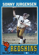 Custom made Topps 1971 Washington Redskins Sonny Jurgensen football card white