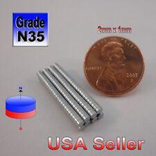 200pcs Tiny N35 Neodymium Magnet 2mm x 1mm Small Disc (Warhammer 40k) Craft