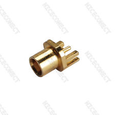 """MCX End Launch Female Jack .031"""" PCB Mount RF coax connector Straight 50 Ohm"""