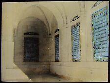 Glass Magic Lantern Slide JERUSALEM PATERNOSTA CHURCH NO2 C1890 PHOTO ISRAEL