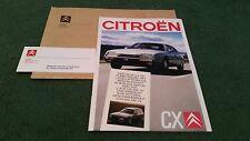 JUIN 1988/1989 CITROEN CX Inc GTi Turbo 2 + Prestige & Break-Allemand brochure