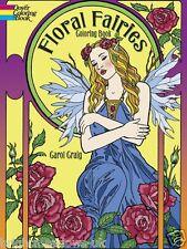 Floral Fairies Adult Colouring Book Garden Creative Art Therapy Relaxing Calm