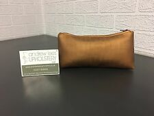 Handmade Faux Leather/ Vinyl Cosmetic Bag in Bronze