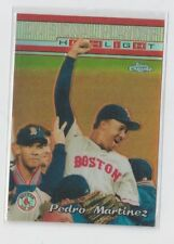 2000 TOPPS CHROME REFRACTOR #225 PEDRO MARTINEZ RED SOX MINT LooK