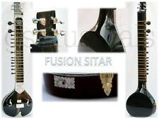 SITAR ELECTRIC BLACK PEARL ELECTRIC STUDIO FUSION WITH GIG BAG CASE GSM012G