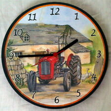 Vintage Tractor Battery Operated Round Wall Clocks