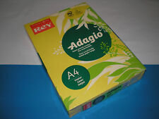 500 Bloque Papel de copia amarillo intenso REY Adagio A4 80g mate 70 % PEFC