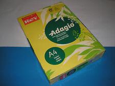 500 Bl. Kopierpapier intensivgelb REY Adagio A4 80g matt 70 % PEFC farbig NEU
