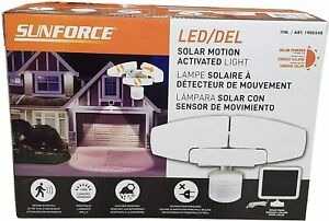 Sunforce 1900548 Solar Motion LED Security Light - White. No main power required