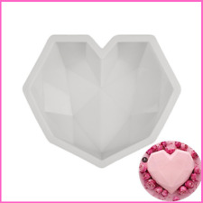 Silicone Molds Diamond Love Heart Shape Mousse Dessert Cake Baking Accessories