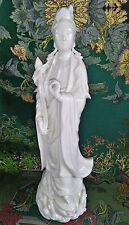 CHINESE Blanc de Chine Dehua White Porcelain Guanyin Bodhisattva Figurine Figure