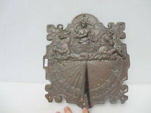 """Large Vintage Brass Sundial Garden Feature 10""""x12"""" 3.5kg"""