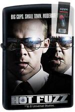Zippo 0472 hot fuzz black movie matte universal studios Lighter + FLINT PACK