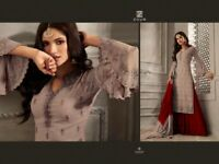 Indian salwar kameez Anarkali plazo Suit Designer Bollywood Ethnic wedding dress