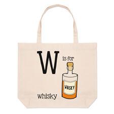 Lettera W è per whisky grande borsa con manico da Spiaggia - Scotch DIVERTENTE