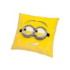 MINIONS cuscino in peluches giallo con occhiali in 3D 40x40 cm