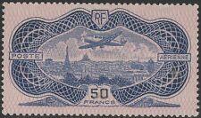 "FRANCE AERIEN 15 "" AVION CAUDRON SIMOUN 50F BURELAGE ROSE 1936 "" NEUF x TTB K312"