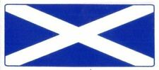 Scotland Flag (Saltire Cross) - Car Window Sticker Clear Vinyl Window Use