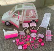 *Rare* Vintage 1995 Mattel Barbie Picnic Mini Van Many Accessories