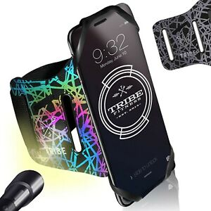 Reflective Running Phone Holder Sports Armband. iPhone Cell Phone Arm Band