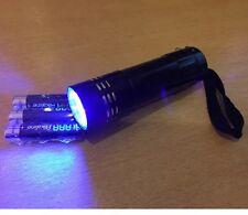 UV ULTRA VIOLET Torch Light Lamp Flashlight - FREE BATTERIES