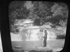 NW U BLACK MAN North C. UPPER FALLS  Antique Glass Slide  c.1912 3.5 x 4