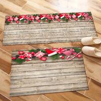 Xmas Gifts Ornaments Wooden Boards Area Rugs Bedroom Rug Living Room Floor Mat