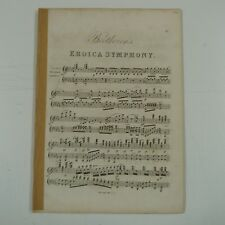 BEETHOVEN eroica symphony 3 arr for piano solo , antique PIANISTA EDITION