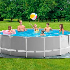 Intex Pool-Set Prism Frame Rondo 457x122cm Farbe Grau Neu & Verpackt