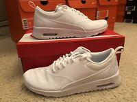 Women's Nike Air Max Thea Shoe Triple White Running Shoe 599409 115
