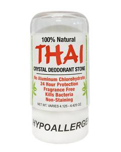 100% NATURAL THAI CRYSTAL DEODORANT STONE 4.25 oz - Single Purchases
