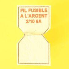 10cm DE FIL A L'ARGENT FUSIBLE CALIBRE 6A REMPLACE LE PLOMB DANS PORTE-FUSIBLES