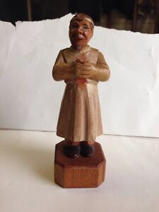"""Vintage ANRI Hand Carved Physician Doctor Surgeon ? - Small 6.5"""""""
