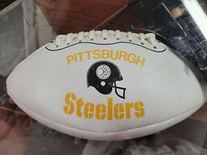 Chuck Noll signed autographed Pittsburgh Steelers vintage football With case