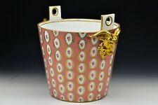 Dresden Porcelain Large Milk Pail  with Ram Heads 19th Century