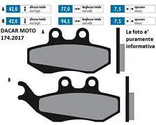 174.2017 PLAQUETTE DE FREIN SINTERED POLINI MALAGUTI F 12 250 PHANTOM MADISON