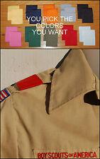 LOT of 5 Pairs  BSA Boy Cub Scout Uniform Shoulder Loops Epaulet U PICK COLORS!!