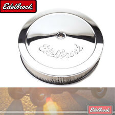 "Edelbrock 1221 Air Filter Assembly 14"" Diameter w/ 3"" Paper Filter Chrome Plated"