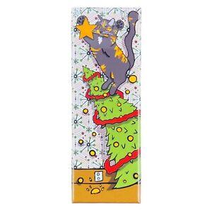Tortoiseshell Cat Christmas Tree Magnet Handmade Holiday Stocking Stuffer Gift