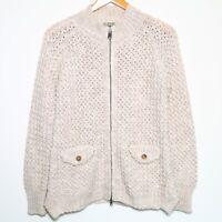 CLOSED Full Zip Chunky Knit Wool Alpaca Blend Sweater w/ Pockets Women's Small
