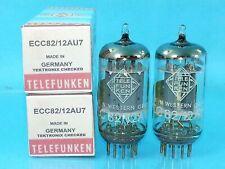 TELEFUNKEN 12AU7 ECC82 VACUUM TUBE MATCH PAIR SMOOTH PLATE SELECTED TEKTRONIX TK