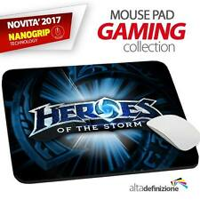 TAPPETINO MOUSE PAD Gaming 21x28 cm ANTISCIVOLO NANOGRIP Heroes of the Storm