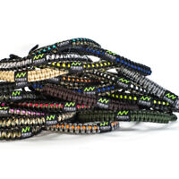 Paracord Bow Wrist Sling Leather Yoke Archery Shooting - Many Color Options!