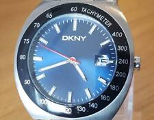Mens Blue Face DKNY New York NY-5062 Gents Diver Style Steel Bracelet Date Watch