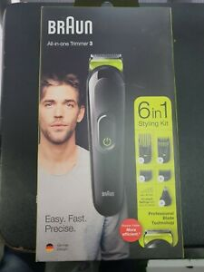 Hair Clippers Beard Trimmer Cordless Rechargeable Shaver Grooming Kit 6In1