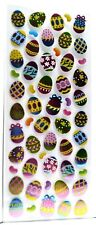 Easter Eggs Jelly Beans FOILED Sticker Sheet - Scrapbooking Craft Embellishments