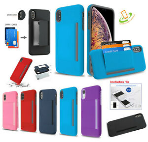 For Samsung Galaxy A51 5G Wallet Case Card Holder Rubber Protector Hybrid Cover